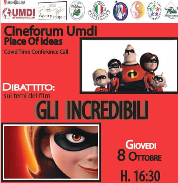 Gli Incredibili al Cineforum Umdi